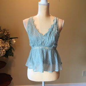 Ambercrombie & Fitch lace top EUC XS
